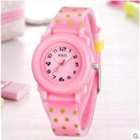 简约数字表盘精美可爱手表韩国时尚石英手表儿童手表女孩男孩防水夜光手表