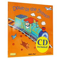 英文原版 Down by the Station (Classic Books With Holes)