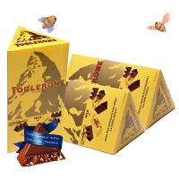 Toblerone 瑞士三角 亿滋进口 牛奶巧克力(单粒独立包装)200g*3盒 巧克力礼盒 *精选 休闲零食