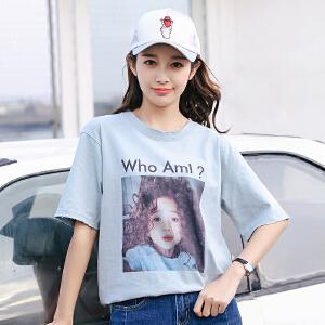 宽松T恤女夏季新款女装韩版短袖学生上衣原宿打底衫