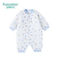 全棉时代 星际呦呦婴儿针织厚款长袖连体衣1件装