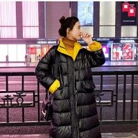 羽绒服女中长款韩版时尚轻薄学生宽松外套派克服