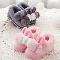 儿童棉拖鞋全包跟秋冬季男女童卡通1-3岁宝宝保暖毛毛棉鞋室内拖