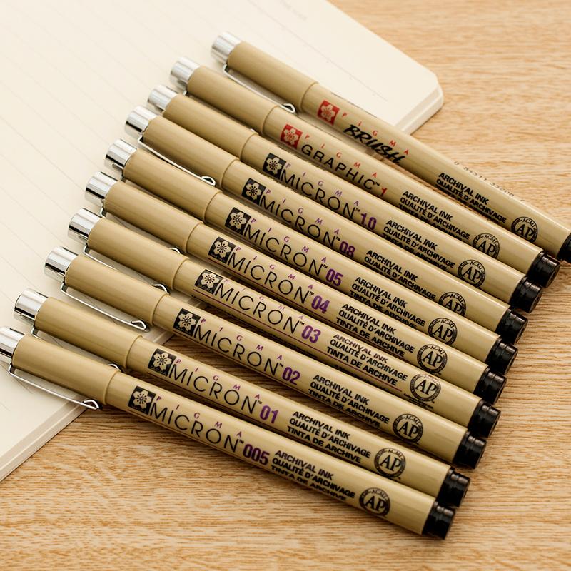 樱花针管笔 01/02/03/04/05/08/005樱花针笔 漫画设计绘图草图笔勾线笔