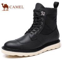 camel 骆驼男鞋秋季新品马丁靴英伦潮流高帮男士厚底工装靴男