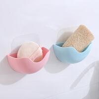 【支持礼品卡支付】免打孔卡通香皂盒塑料沥水皂盒 卫生间壁挂式收纳盒肥皂盒