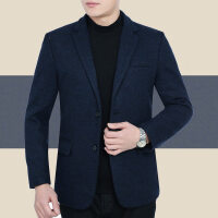 图门秋季中年男休闲夹克衫秋装男装商务西装加厚爸爸装羊毛呢外套