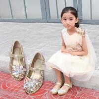 爱乐熊2017春夏季新款女童鞋公主鞋 新品韩版时尚小高跟儿童单鞋女