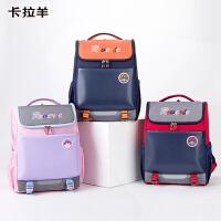 卡拉羊书包小学生1-3年级男女双肩包背包一体式低年级背包CX2777