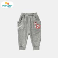 【1件2折】马卡乐童装22春新款婴幼裤装大口袋设计休闲运动裤男童裤子