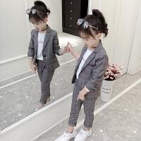 2018新款儿童西装礼服两件套大童装时髦韩版潮衣7岁8女童秋装套装