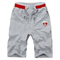 男士运动裤薄款五分裤休闲短裤跑步健身裤直筒中裤宽松篮球裤