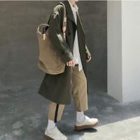 秋冬秋季长款青年中长款外套男士韩版青春流行上衣男装风衣