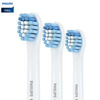 飞利浦HX6083迷你敏感电动牙刷头三支装 适用HX3110/HX3120/HX6730/HX9362等