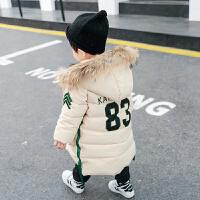宝宝棉衣冬装外套羽绒中长款小童洋气男童潮