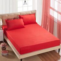 【人气】放心购 纯色席梦思保护套防尘罩床笠床罩床垫罩单件床套1.8m床 防滑床单