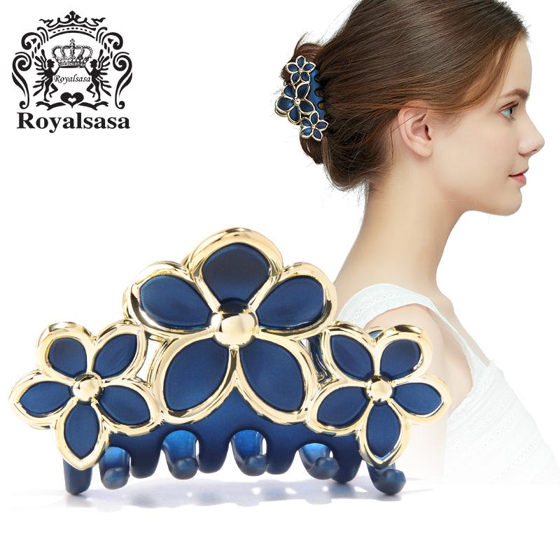 皇家莎莎RoyalSaSa发饰发抓中号长齿发夹盘发抓夹发卡头饰韩版卡子夹子