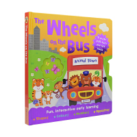 The Wheels on the Bus 巴士轮子 幼儿英文故事绘本纸板机关书