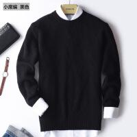 №【2019新款】冬天穿的双股加厚山羊绒衫男士圆领套头加厚毛衣打底针织衫纯色