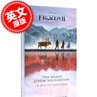 预售 冰雪奇缘2同名电影小说附海报 英文原版书 Frozen 2: The Deluxe Junior Noveliz