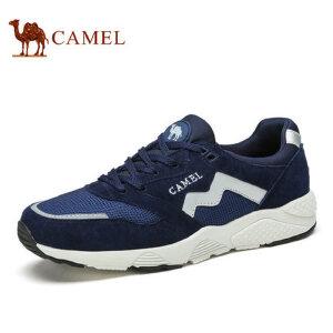 camel骆驼男鞋 春季新品 轻质舒适网面鞋时尚运动休闲鞋