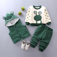 宝宝冬装套装婴儿卫衣三件套
