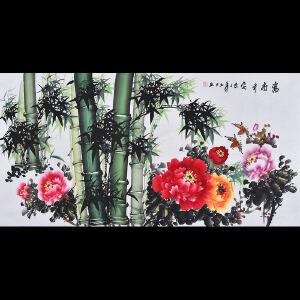 广西省美术家协会会员 李老师《富贵平安》HN12680