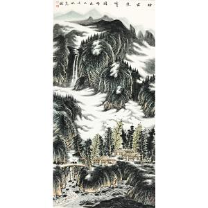 曾先国《烟云叠峰图》著名画家