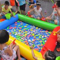 儿童充气沙池玩具套装大型滑梯海洋球沙滩池