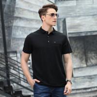 3923夏装新款吉普盾短袖T恤衫 男士翻领纯色大码休闲宽松商务polo衫