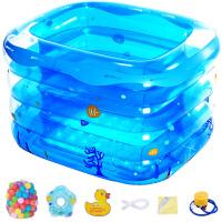 盈泰 儿童游泳池婴儿游泳池新生儿洗澡桶家用宝宝充气浴盆婴儿戏水玩具