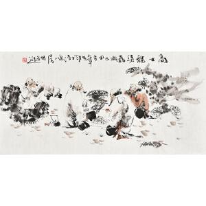 当代画家梁煜50 X 99CM人物画gr01437