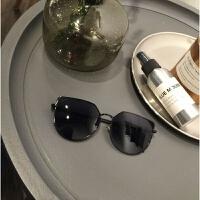 2017新款网红墨镜女潮复古气质太阳镜长圆脸个性韩国猫耳朵眼镜