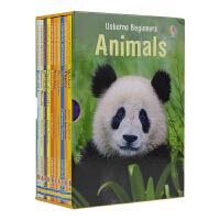 【首页抢券300-100】Usborne Beginners Animals 动物世界 10册盒装套装 儿童趣味知识百科