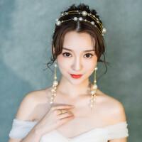 新娘头饰发箍套装森系超仙简约结婚发饰婚纱礼服饰品