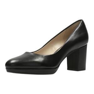 【香港现货】Clarks/其乐女鞋2017秋冬新款圆头正装高跟单鞋Kelda Hope专柜正品直邮
