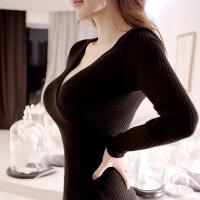 №【2019新款】冬天美女穿的裙子冬裙针织内搭打底夜场性感女装显瘦加厚连衣裙