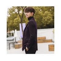 2018 新品冬季男士大衣韩版修身短款呢子外套反季加厚妮子风衣男装青年性感潮流