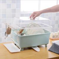 厨房收纳盒 塑料沥水碗架带盖碗筷餐具碗柜放碗碟架滴水碗盘置物架抖音同款