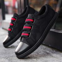 夏季一脚蹬懒人鞋男韩版潮流休闲板鞋学生帆布鞋潮鞋社会小伙男鞋