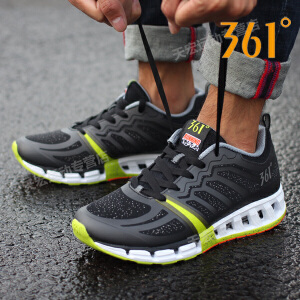 【满100减30/满279减100】361男鞋 跑步鞋正品361度轻便透气跑鞋运动鞋571632232C
