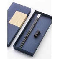单人用红木筷子礼盒套装礼品创意实木质筷子 红木家用筷子