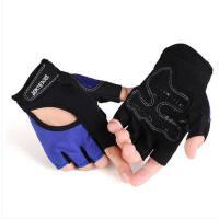 镂空时尚撞色拼接半指运动训练手套单车手套防滑手套女士健身手套