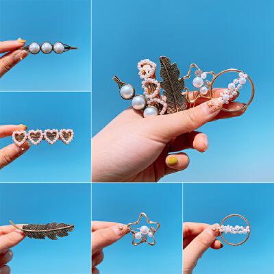 韩国发夹发卡女泫雅同款少女头饰头发小夹子卡子网红发饰边夹顶夹