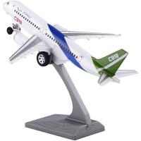 飞机模型国产大飞机c919客机空客民航客机模型声光回力
