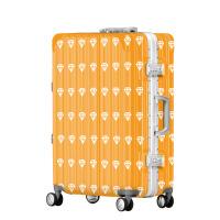2018新款儿童印花钻石行李箱万向轮20寸旅行箱密码箱24个性超轻拉杆箱