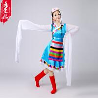 女装藏族舞蹈服装演出服装民族舞蹈表演服水袖西藏藏族