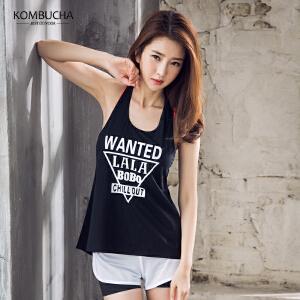 【新春特惠价】Kombucha运动健身背心女士速干透气性感镂空背心罩衫健身跑步运动背心YGS66