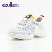 依思Q2019秋夏新款韩版休闲运动网状透气跑步板鞋女单鞋18168034-