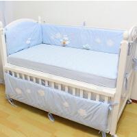 嘟嘟&贞贞 婴儿床床帏 全棉5件套 可拆洗带棉芯 卡通图案